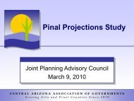 CAAG Pinal Projections Study - Joint Planning Advisory Council