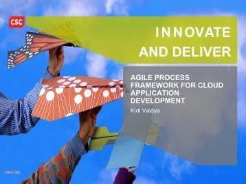 Agile Process Framework for Cloud Application Development - CSC