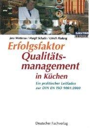 Erfolgsfaktor Qualitätsmanagement in Küchen - DEHOGA Shop
