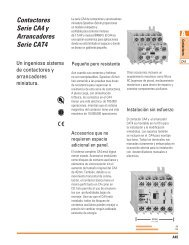 Contactores Serie CA4 y Arrancadores Serie ... - Sprecher + Schuh
