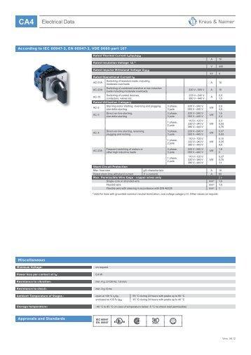 ca4 electrical data kraus naimer?quality=85 switch disconnectors 1 kraus & naimer ca11 wiring diagram at soozxer.org