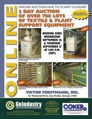 online auction due to plant closure 2 day auction of over 700 lots of ...