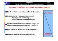 Gesunde Ernährung im Fitness- und Leistungssport