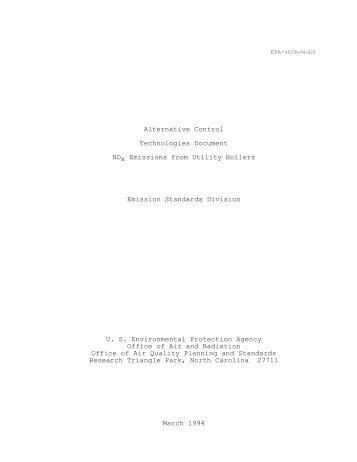 Alternative Control Technologies Document - US Environmental ...