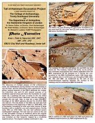 Photo Narrative - Tall el-Hammam Excavation Project