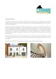 KENHAM BUILDING LIMITED - infogram.co.uk > Home