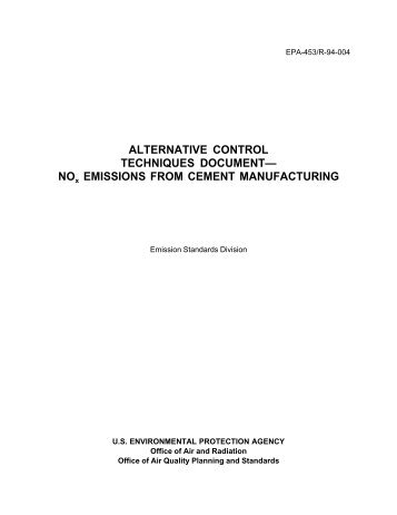NOx Emissions from Cement Mfg - US Environmental Protection ...