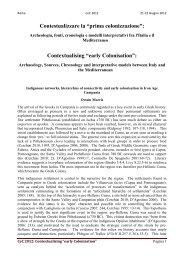 "Contextualising ""early Colonisation"" - Academia Belgica"