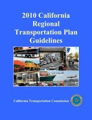 2010 California Regional Transportation Plan Guidelines