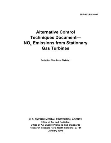 NOx Emissions from Stationary Gas Turbines - US Environmental ...