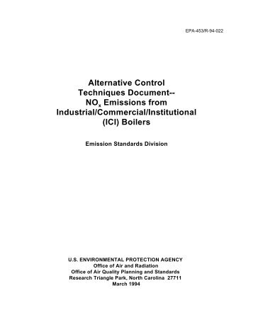 Alternative Control Techniques Document-- NO Emissions from - US ...
