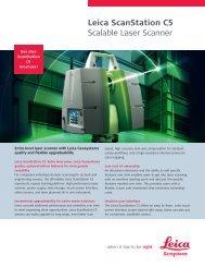 Leica ScanStation C5 Scalable Laser Scanner - Leica Geosystems