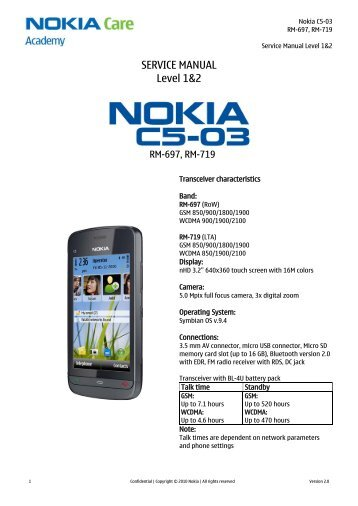 nokia n8 00 rm 596 service manual level 1 2 pdadb rh yumpu com Nokia 5 Nokia 8