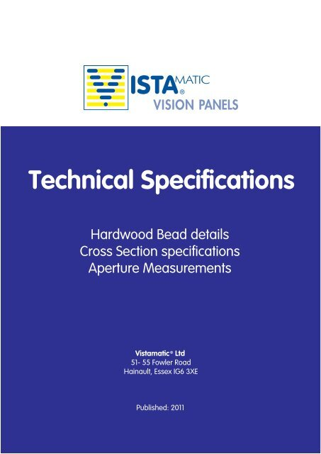 Technical Specifications - Vistamatic