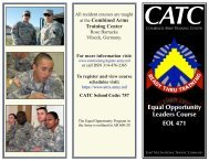 EOL Duties - Combined Arms Training Center