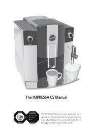 The IMPRESSA C5 Manual - 1st-line Equipment, LLC