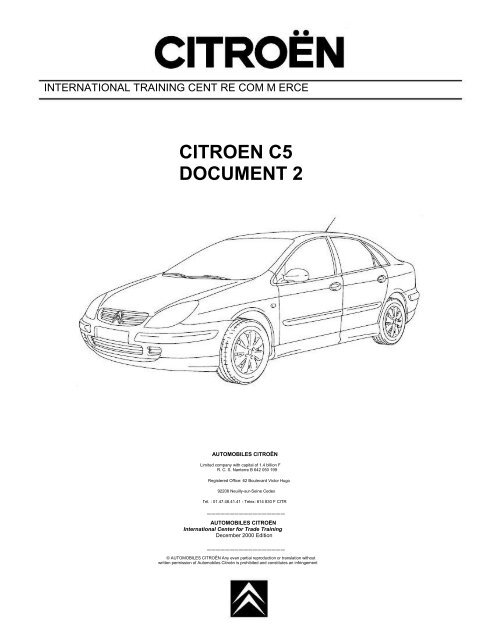 CITROEN C5 DOCUMENT 2 | Citroen C5 Wiring Diagram Free |  | Yumpu