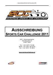 AUSSCHREIBUNG SPORTS CAR CHALLENGE 2011 - PRC