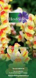 programme of events - Hosfords Garden Centre