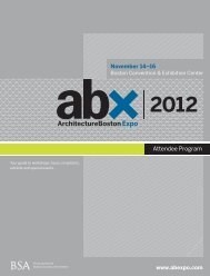 ABX Attendee Program - ArchitectureBoston Expo