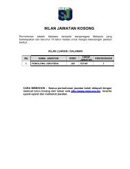 Iklan Jawatan Kosong Jan 2013