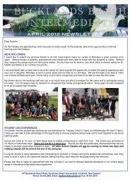 School newsletter April 2012 (10.6MB PDF) - Bucklands Beach ...