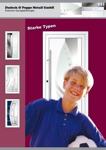 """Ganzglasfüllungen """"Starke Typen"""" - Dudeck & Poppe Metall GmbH"""