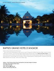 Raffles GRaND HOTel D'aNGKOR - Elite Traveler