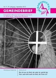 September 2012.pdf - Evang.-Luth. Kirchengemeinde Feucht