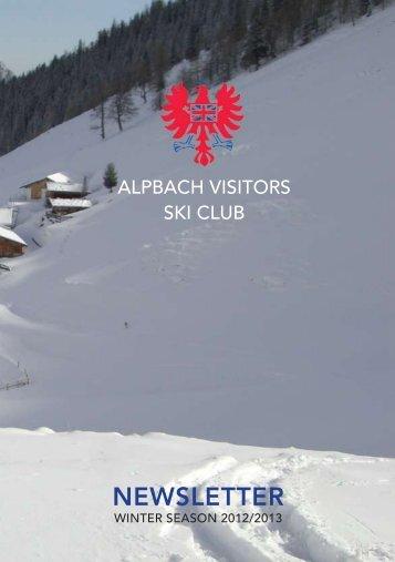 043 (0)5336 5203 www.hotel-post.cc - Alpbach Visitors Ski Club