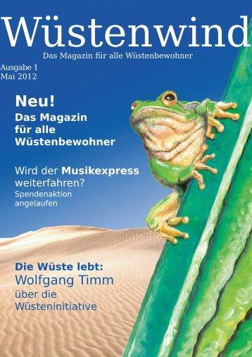 Ausgabe 1, Mai 2012 - Walpurgis-Verlag