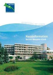 Hausinformation der Werner-Messmer-Klinik - mettnau