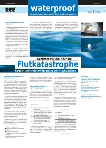 waterproof - und  Dichtungsbahnen DUD eV
