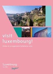 À lA DéCouveRTe De lA ville - Luxembourg City Tourist Office