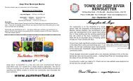 July - September Booklet 2012 - Town of Deep River