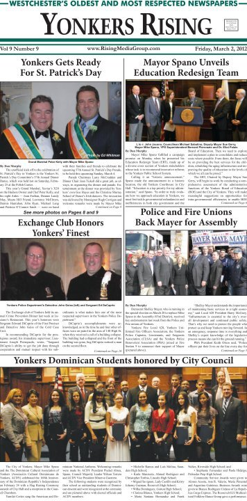 Mayor Spano Unveils Education Redesign Team Yonkers Gets ...