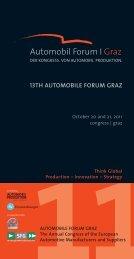 13TH AUTOMOBILE FORUM GRAZ – October 20 And 21 - Automobil Produktion