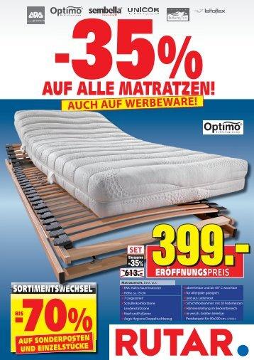 Die richtige Matratze Matratzen kauft man bei Rutar!