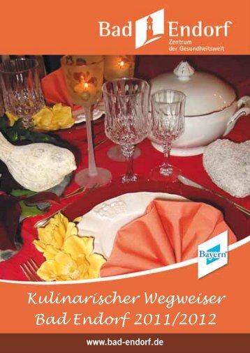 Kulinarischer Wegweiser Bad Endorf 2011/2012