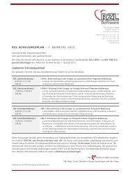 RZL Schulungen LOHN (Kurs 1 und 2), FIBU - RZL Software GmbH