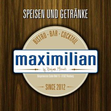 SPEISEN UND GETRÄNKE - Maximilian Nienburg