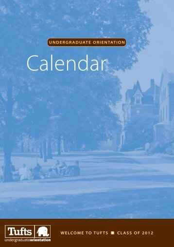Calendar - Student Services - Tufts University
