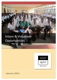 Download Intern & Volunteer recruitment 2012 - Never Again Rwanda