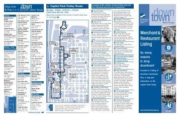Downtown Merchant Listing - Downtown Development District