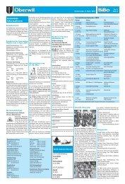 Gemeinde- informationen Oberwil - BiBo