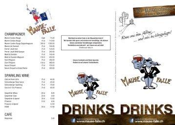 CHAMPAGNER SPARKLING WINE CAFE - Mausefalle