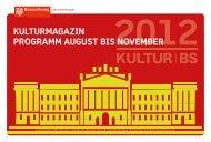 Kulturmagazin Schloss mit dem Programm Roter Saal - Stadt ...