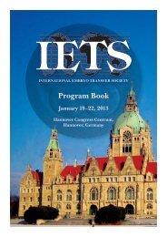Program Book - International Embryo Transfer Society