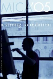a strong foundation - Maryland Institute College of Art