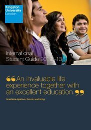 International Student Guide - Kingston University London